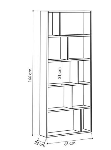 Mẫu Giá Sách Gỗ 5 Tầng Cho Phòng Khách