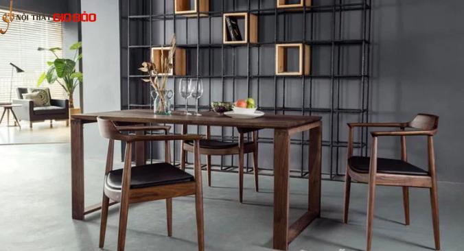 Bộ bàn ăn gia đình bằng gỗ tự nhiên GB-4771