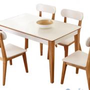 Bộ bàn ăn gỗ thiết kế nhỏ gọn