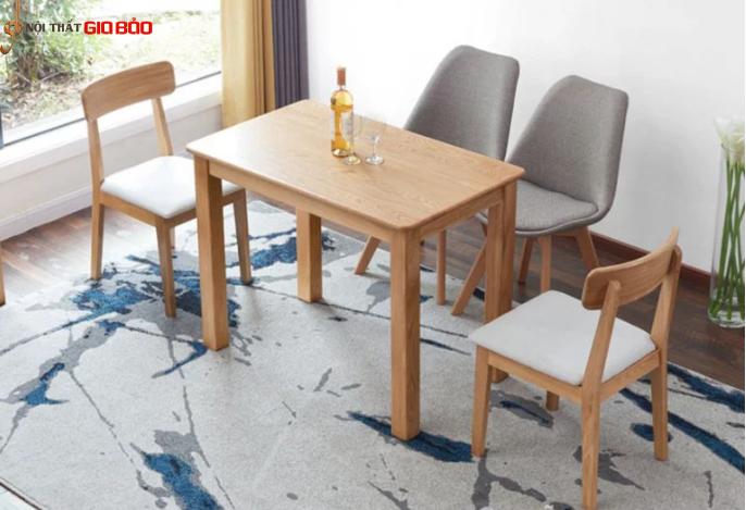 Mẫu bàn ăn hiện đại 4 chỗ bằng gỗ tự nhiên GB-4776