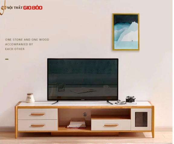 Mẫu kệ tivi gỗ sồi đặt phòng khách GB-3316