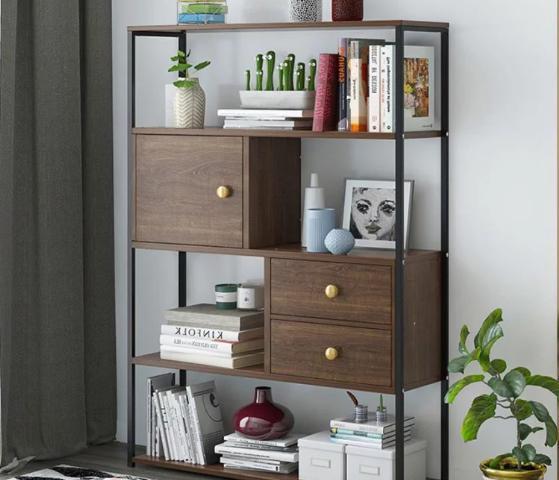 Giá sách gỗ đẹp thiết kế nhỏ gọn, tiện dụng đa năng GB-2176