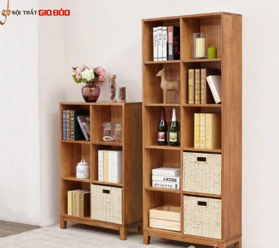 Giá sách gỗ công nghiệp thiết kế đẹp hiện đại GB-2175
