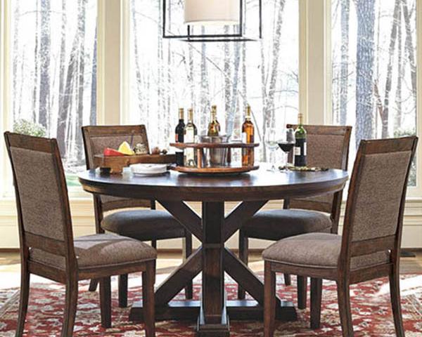 Bộ bàn ăn gia đình đẹp bằng gỗ GB-4137