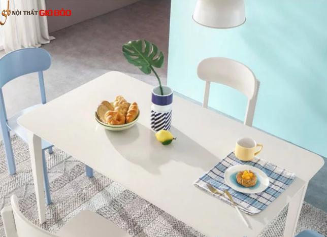 Mẫu bàn ăn hiện đại bằng gỗ tự nhiên GB-4728