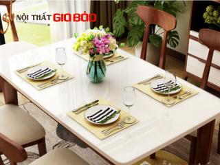 Bàn ăn gia đình bằng gỗ phong cách thanh lịch GB-4734