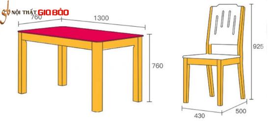 Bộ bàn ăn gia đình gỗ tự nhiên mặt kính GB-4732