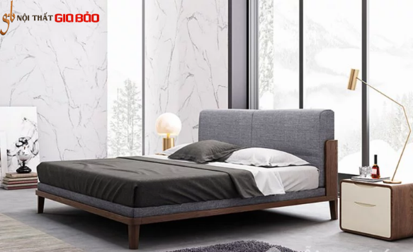 Giường ngủ gỗ chất lượng cao cho gia đình GB-9071