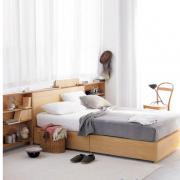 Giường ngủ gỗ tự nhiên dáng thấp tiện dụng GB-9063