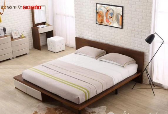 Mẫu giường ngủ gia đình thiết kế tiện dụng GB-9070