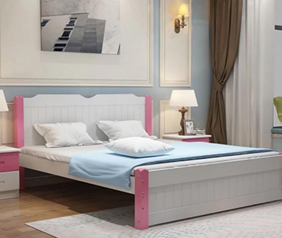 Giường ngủ gỗ tự nhiên kiểu dáng hiện đại GB-9062