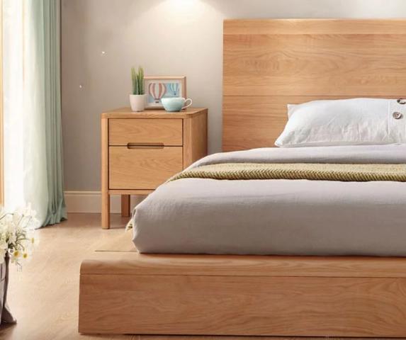 Mẫu giường ngủ gỗ tự nhiên thiết kế đẹp GB-9061