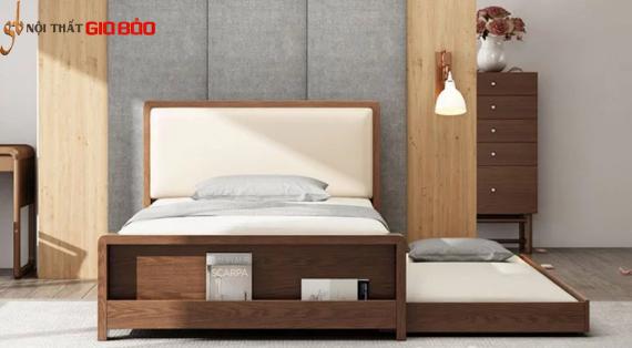 Mẫu giường ngủ gỗ tự nhiên thiết kế thông minh GB-9069