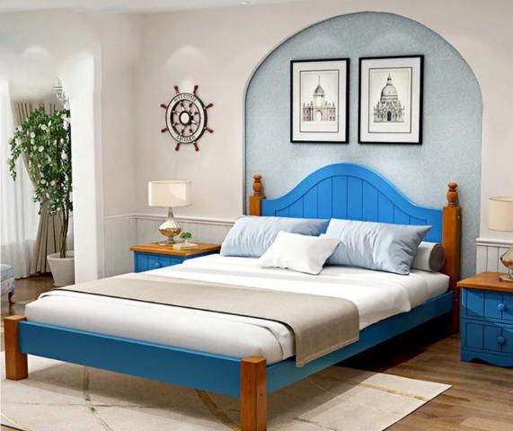 Giường ngủ gia đình thanh lịch bằng gỗ tự nhiên GB-9068