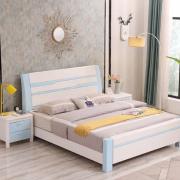 Giường ngủ gỗ gia đình phun sơn hiện đại GB-9066