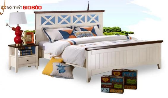 Mẫu giường ngủ gỗ thiết kế đẹp ấn tượng GB-9064