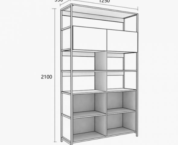Giá sách gỗ khung sắt phong cách hiện đại GB-2162