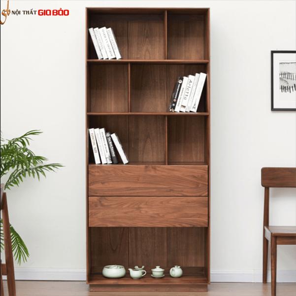 Giá sách gỗ tự nhiên đẹp cho gia đình GB-2161