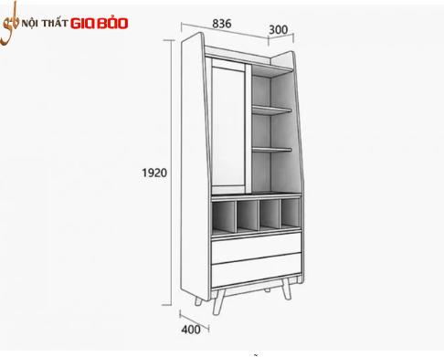 Giá sách gỗ đẹp thiết kế tiện dụng GB-2172