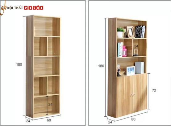 Giá sách giá rẻ hiện đại bằng gỗ công nghiệp GB-2169
