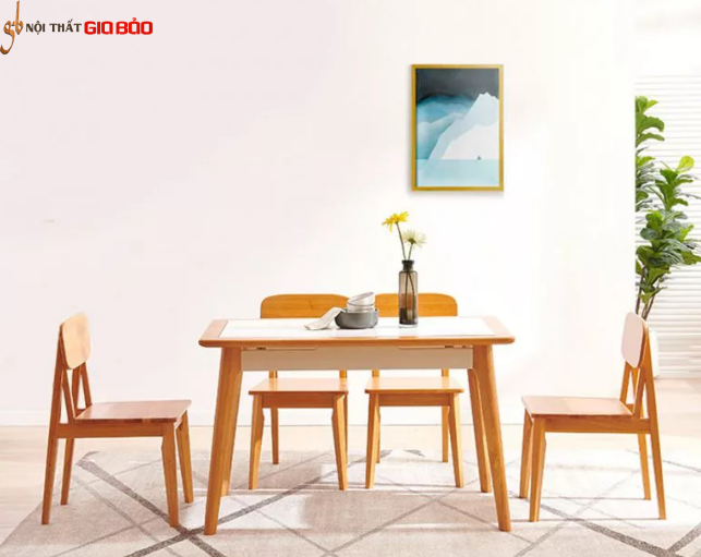 Bộ bàn ăn gia đình thiết kế đẹp GB-4727