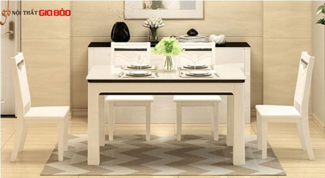 Bàn ăn hiện đại cho gia đình bằng gỗ công nghiệp GB-4726