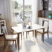 Mẫu bàn ăn gỗ phong cách thanh lịch GB-4723