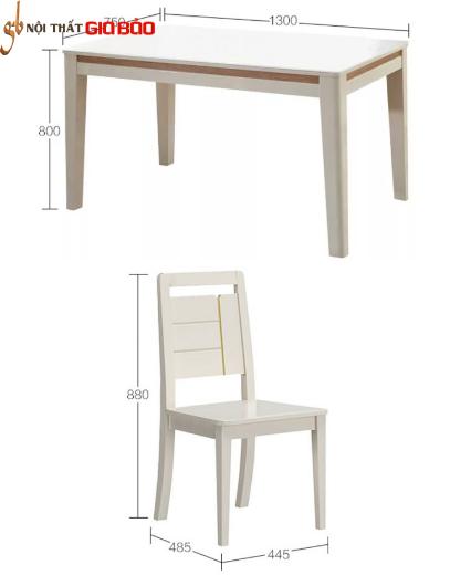 Bộ bàn ăn gia đình đẹp phong cách hiện đại GB-4722