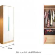 Tủ quần áo gia đình bằng gỗ công nghiệp đẹp hiện đại GB-5764