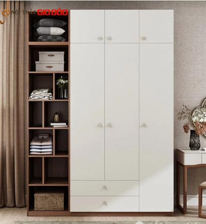 Tủ quần áo gia đình bằng gỗ thiết kế đa năng hiện đại GB-5762