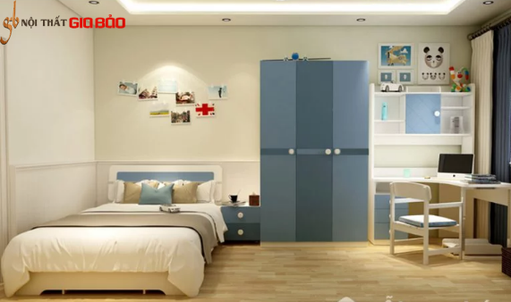 Tủ đựng quần áo bằng gỗ thiết kế đa năng tiện nghi GB-5761
