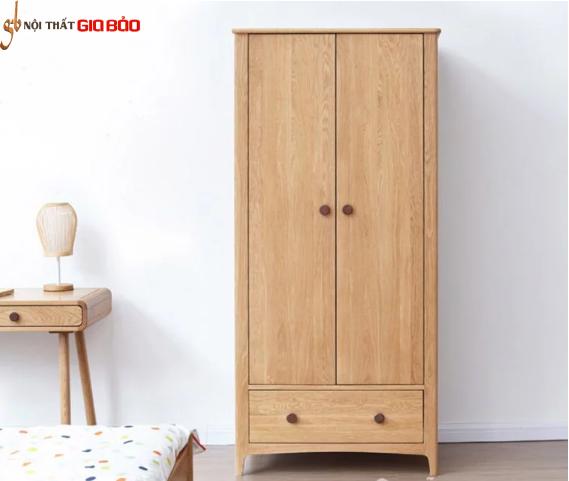 Tủ đựng quần áo gỗ sồi tự nhiên đẹp hiện đại GB-5759