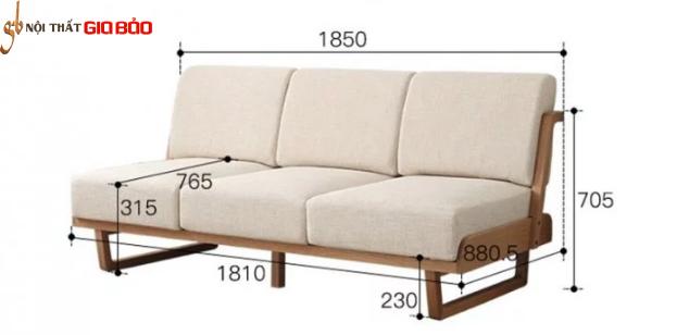 Ghế sofa gia đình bằng gỗ tự nhiên hiện đại GB-8297
