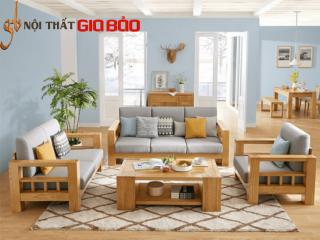 Ghế sofa bằng gỗ tự nhiên cho phòng khách GB-8288