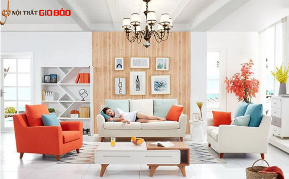 Ghế sofa gỗ tự nhiên phòng khách gia đình hiện đại GB-8298