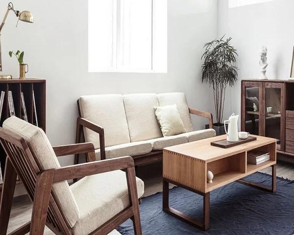 Ghế sofa hiện đại phòng khách gia đình gỗ tự nhiên GB-8296
