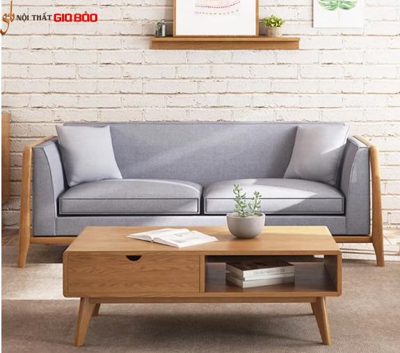 Ghế sofa bọc nỉ cao cấp khung gỗ tự nhiên hiện đại GB-8305