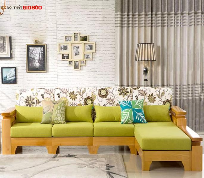 Ghế sofa phòng khách kiểu chữ L bọc nỉ GB-8294