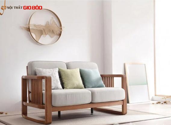 Ghế sofa gia đình gỗ tự nhiên thiết kế đẹp hiện đại GB-8300