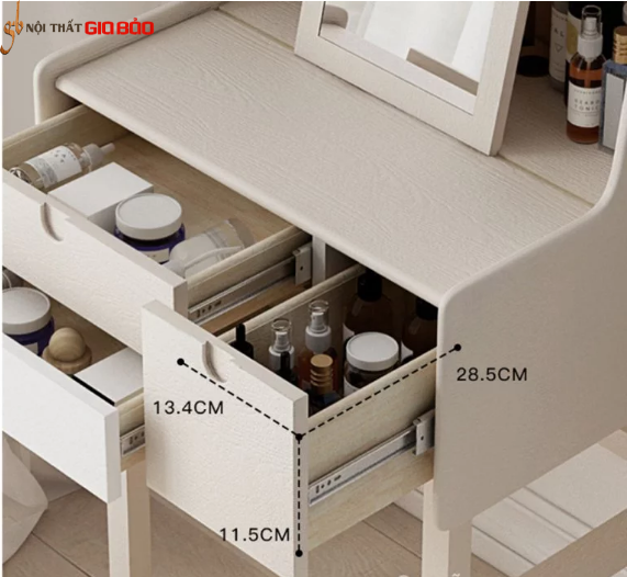 Mẫu bàn trang điểm hiện đại bằng gỗ GB-4802