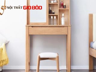 Bàn trang điểm đẹp bằng gỗ sồi tự nhiên GB-4666