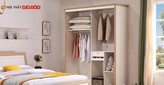 Tủ đựng quần áo gỗ công nghiệp đẹp hiện đại GB-5697
