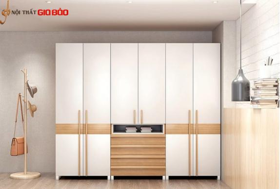 Tủ đựng quần áo gia đình gỗ công nghiệp hiện đại GB-5691