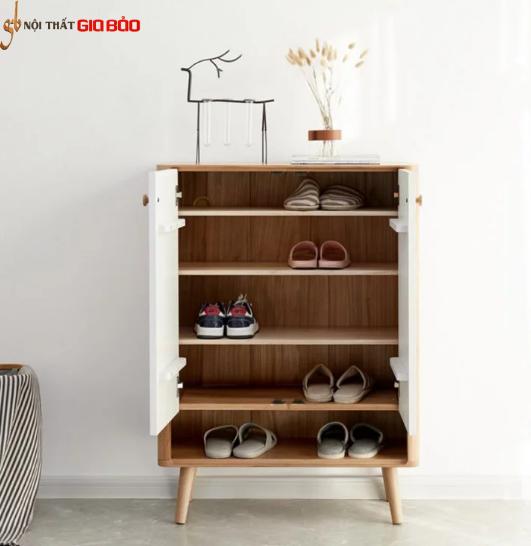 Tủ giày dép bằng gỗ sồi tự nhiên hiện đại GHS-5781