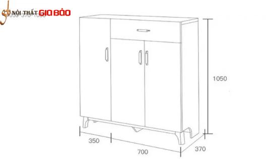 Tủ đựng giày gia đình thiết kế nhỏ gọn tiện lợi GB-5717