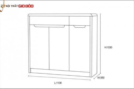 Tủ đựng giày gia đình gỗ công nghiệp hiện đại GB-5780