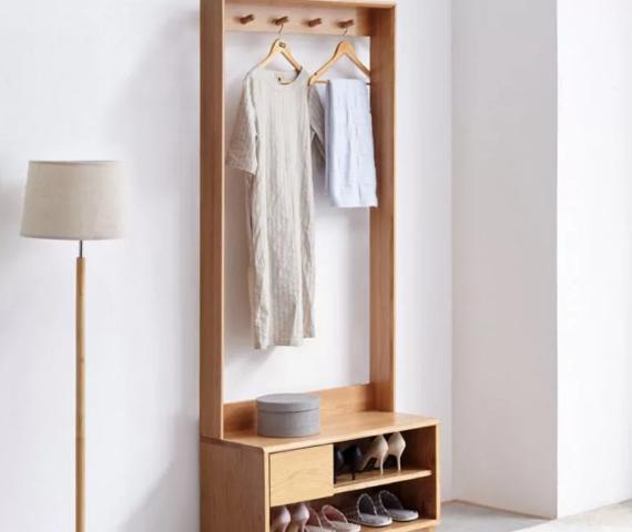 Tủ giày gỗ sồi tự nhiên thiết kế đẹp hiện đại GB-5715