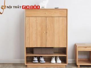 Tủ giày gỗ sồi tự nhiên thiết kế hiện đại GB-5778