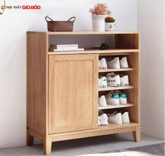 Tủ giày gỗ sồi tự nhiên thiết kế đẹp hiện đại GB-5713