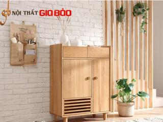 Tủ đựng giày dép gia đình gỗ sồi tự nhiên GB-5775